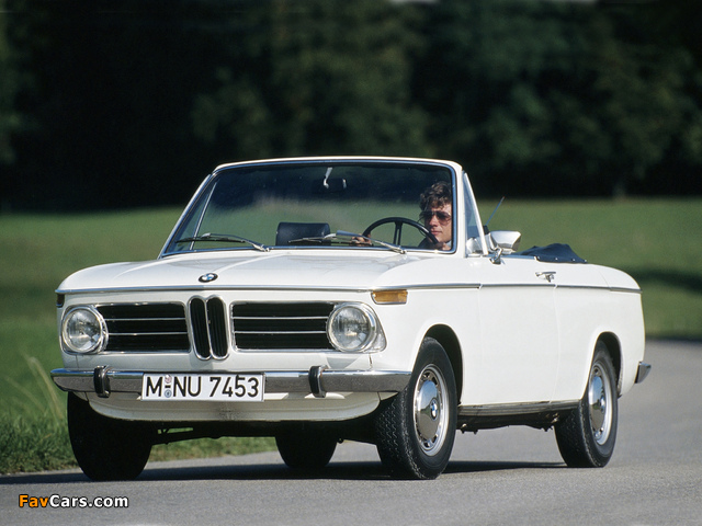 BMW 1600-2 Cabriolet (E10) 1967–71 wallpapers (640 x 480)