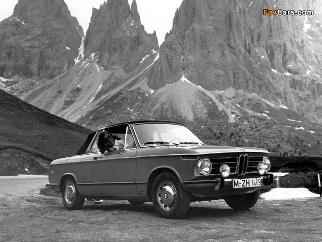 Images of BMW 2002 Cabriolet by Baur (E10) 1967–75 (640 x 480)
