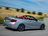 BMW 228i Cabrio Sport Line (F23) 2014 images