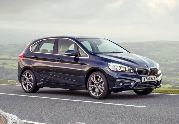 bmw 218d active tourer luxury line uk spec f45 2014 wallpapers. Black Bedroom Furniture Sets. Home Design Ideas