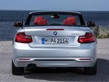 Images of BMW 228i Cabrio Sport Line (F23) 2014