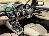 BMW 218d Active Tourer Luxury Line UK-spec (F45) 2014 wallpapers