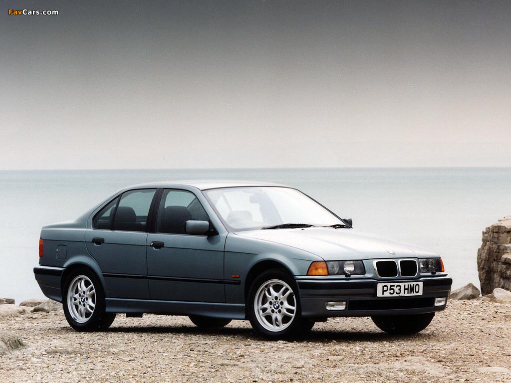 BMW 320i Sedan (E36) 1991-98 wallpapers (1024x768)