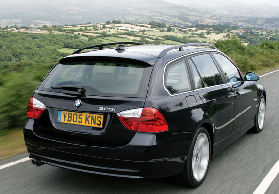 BMW 325i Touring UK-spec (E91) 2006–08 photos