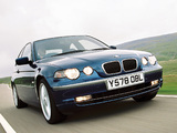 BMW 325ti Compact UK-spec (E46) 2001–05 wallpapers