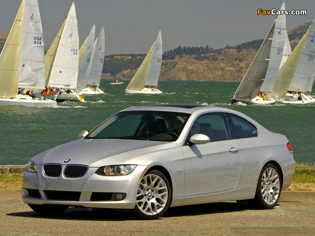 Pictures of BMW 328i Coupe US-spec (E92) 2006–10 (640 x 480)
