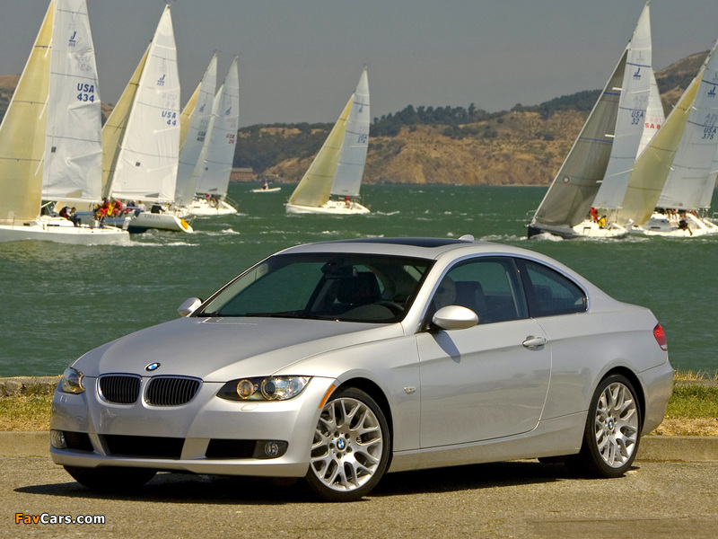 Pictures of BMW 328i Coupe US-spec (E92) 2006–10 (800 x 600)