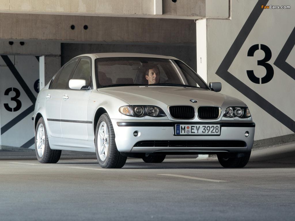 BMW 318i Sedan (E46) 2001–05 wallpapers (1024x768)