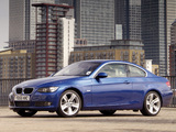 BMW 335i Coupe UK-spec (E92) 2007–10 wallpapers