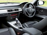 BMW 320d Sedan UK-spec (E90) 2008–11 wallpapers