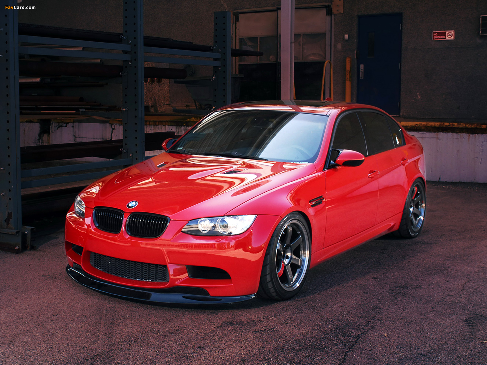 Ind Bmw M3 Sedan Red Death E90 2010 Wallpapers 1600x1200