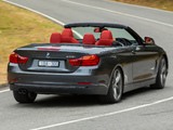Pictures of BMW 428i Cabrio Sport Line AU-spec (F33) 2014
