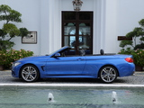 BMW 435i Cabrio M Sport Package UK-spec (F33) 2014 wallpapers