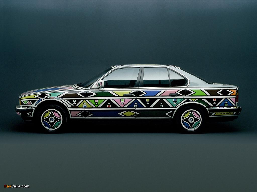 BMW 525i Art Car by Esther Mahlangu (E34) 1992 pictures (1024 x 768)