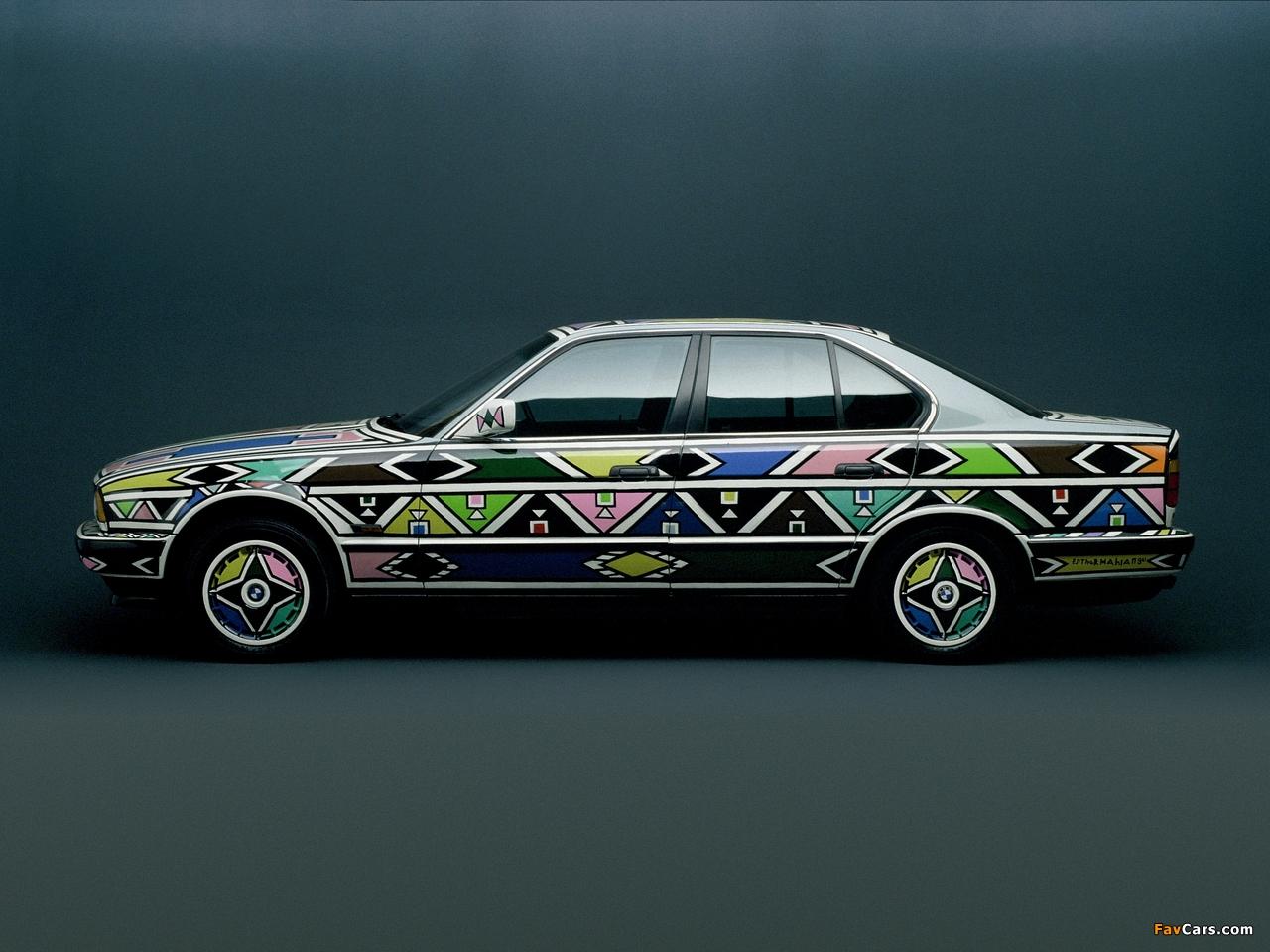 BMW 525i Art Car by Esther Mahlangu (E34) 1992 pictures (1280 x 960)