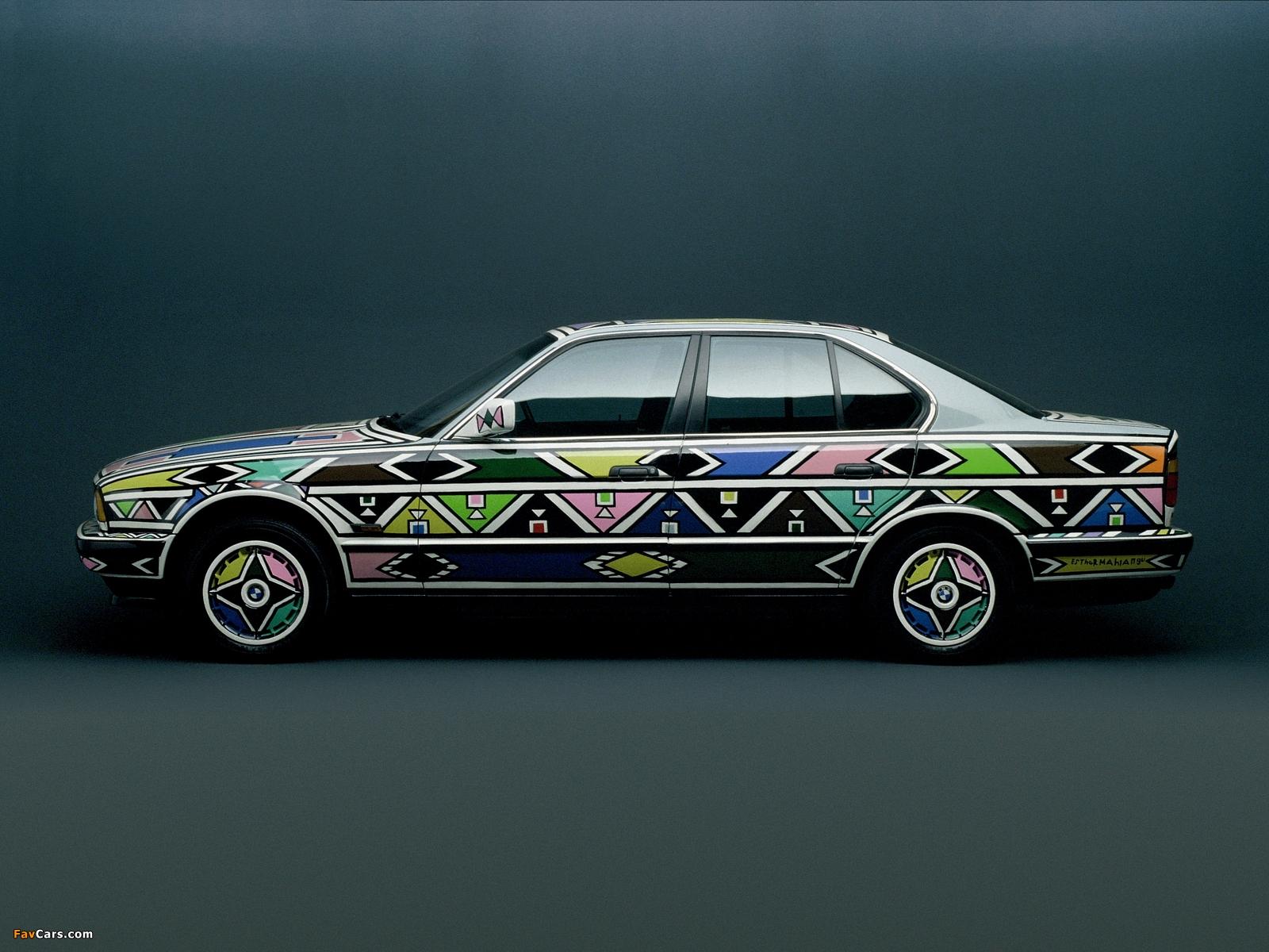 BMW 525i Art Car by Esther Mahlangu (E34) 1992 pictures (1600 x 1200)