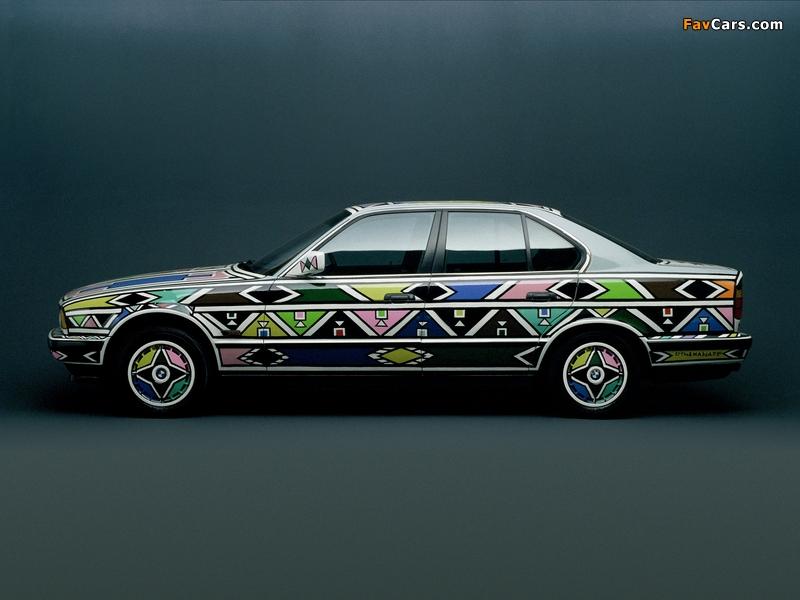 BMW 525i Art Car by Esther Mahlangu (E34) 1992 pictures (800 x 600)