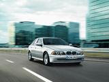 BMW 520i Sedan (E39) 2000–03 wallpapers