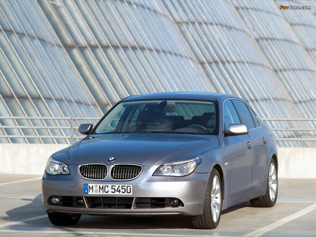 BMW 545i Sedan (E60) 2003–05 images (1024 x 768)