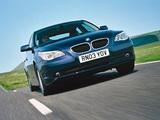 BMW 520i Sedan UK-spec (E60) 2003–05 pictures