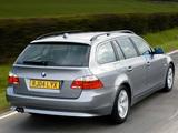 BMW 525i Touring UK-spec (E61) 2004–07 images