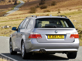 BMW 525i Touring UK-spec (E61) 2004–07 pictures