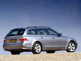BMW 525i Touring UK-spec (E61) 2004–07 wallpapers