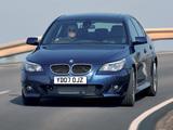 BMW 535d Sedan M Sports Package UK-spec (E60) 2005 images