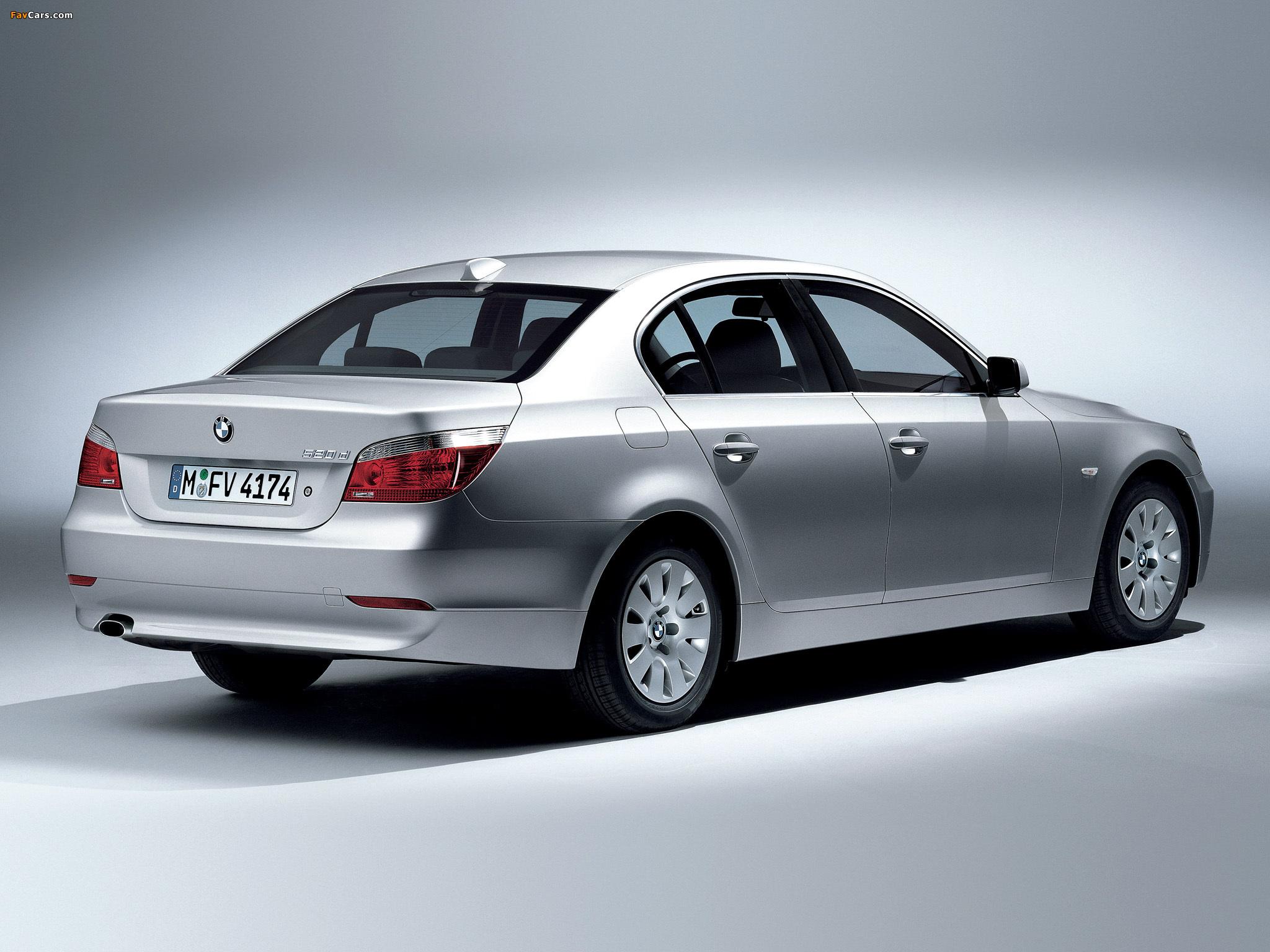 BMW 520d Sedan (E60) 2005–07 wallpapers (2048 x 1536)