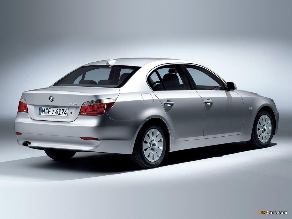 BMW 520d Sedan (E60) 2005–07 wallpapers (1024 x 768)