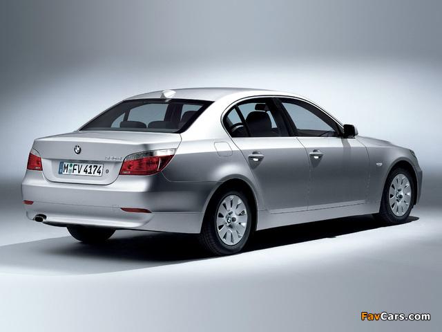 BMW 520d Sedan (E60) 2005–07 wallpapers (640 x 480)
