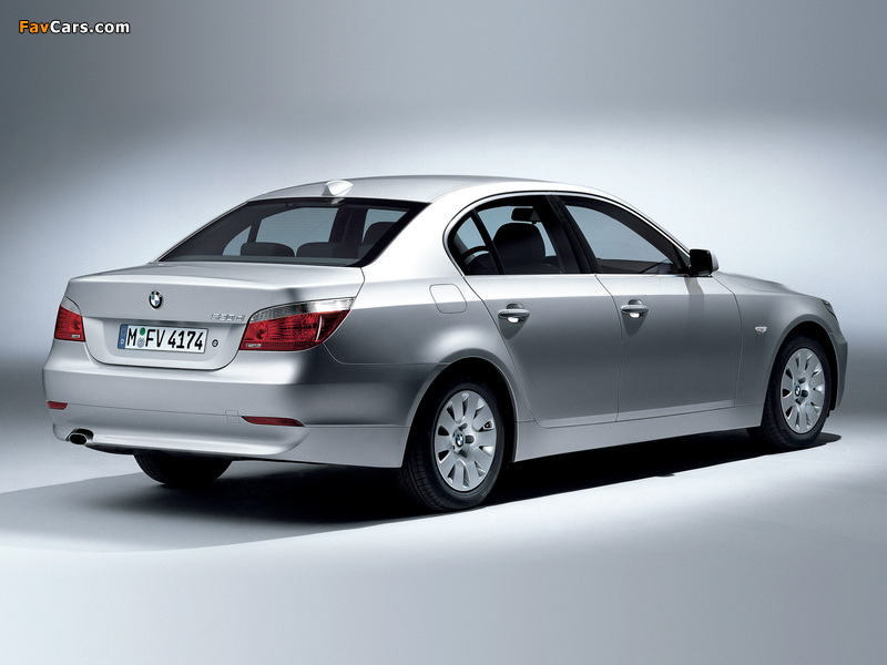 BMW 520d Sedan (E60) 2005–07 wallpapers (800 x 600)