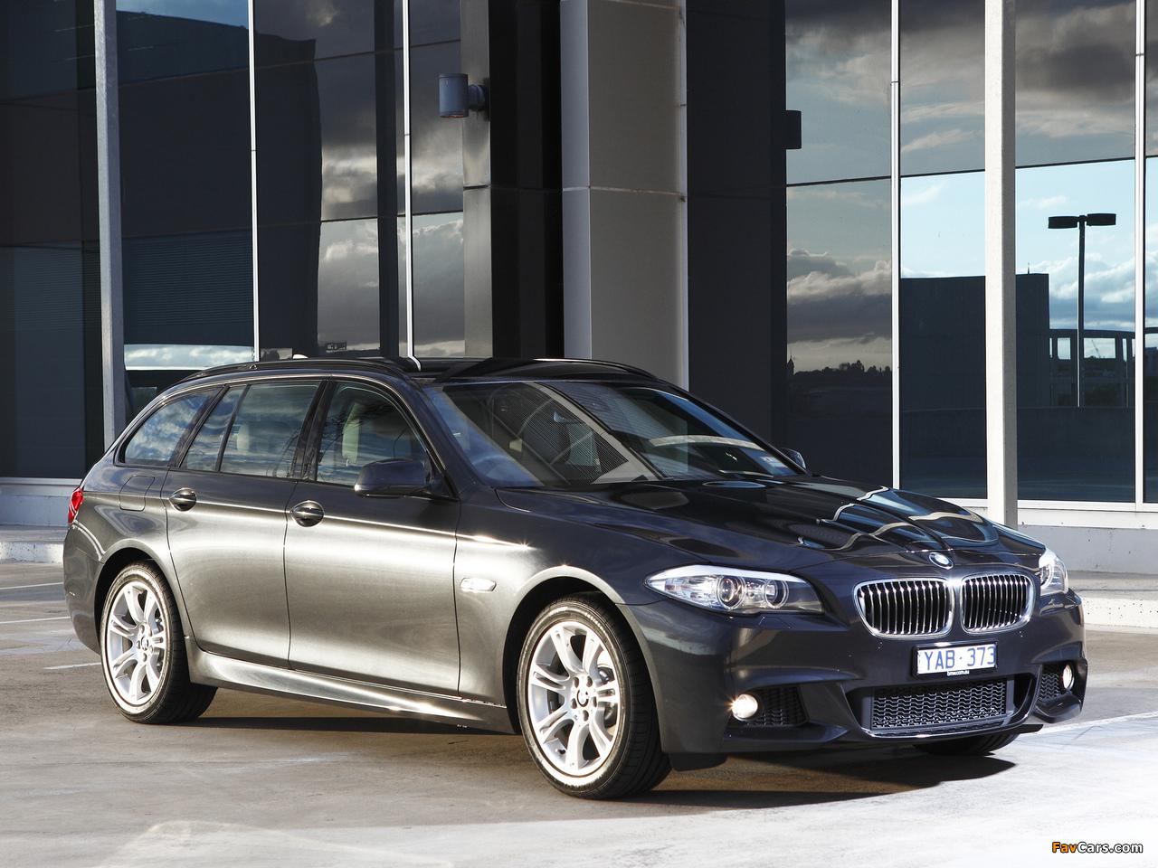 BMW 520d Touring M Sports Package AU-spec (F11) 2011 photos (1280 x 960)