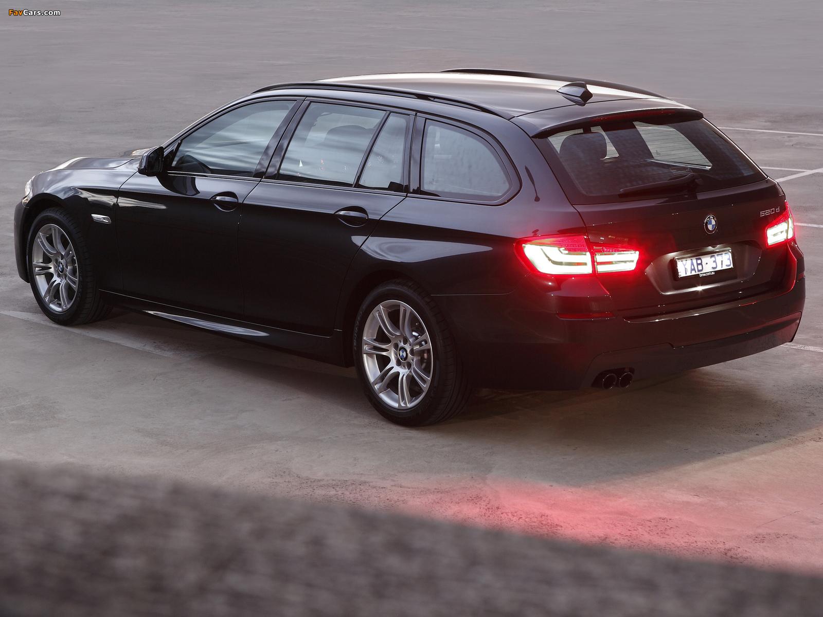 BMW 520d Touring M Sports Package AU-spec (F11) 2011 photos (1600 x 1200)