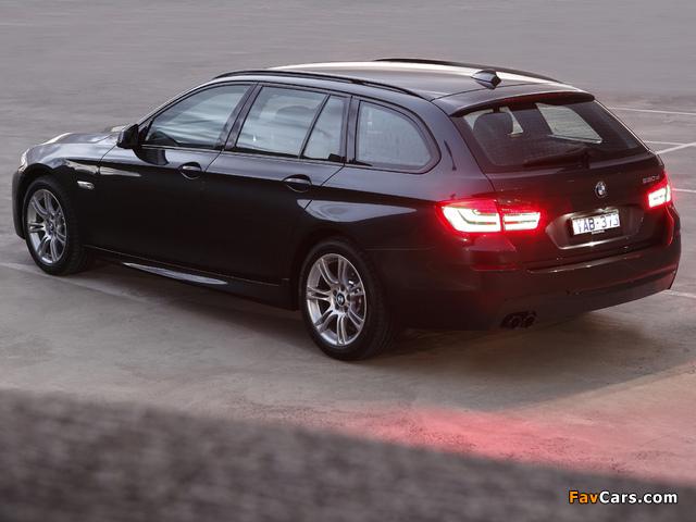 BMW 520d Touring M Sports Package AU-spec (F11) 2011 photos (640 x 480)