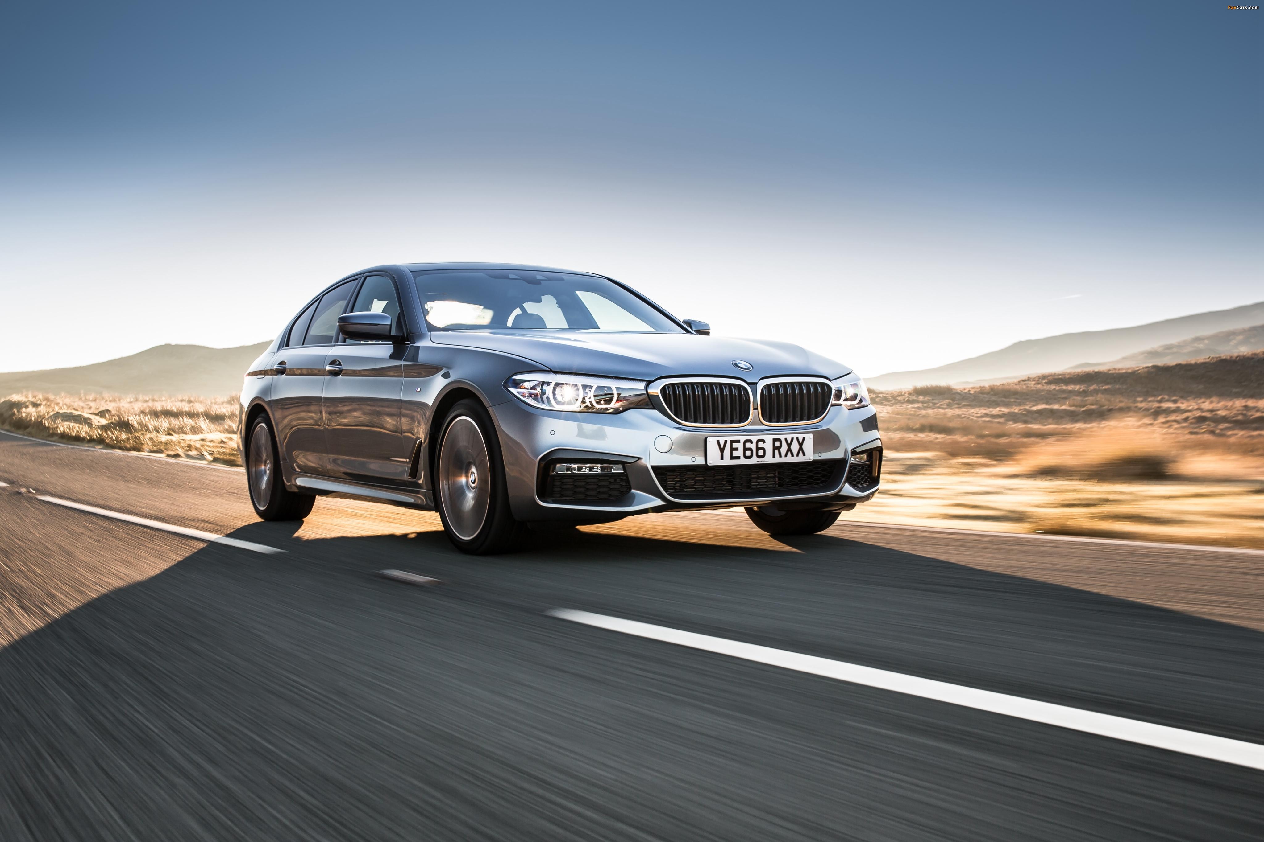 BMW 520d Sedan M Sport UK-spec (G30) 2017 images (4096 x 2731)