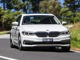 BMW 520d Sedan Luxury Line AU-spec (G30) 2017 pictures