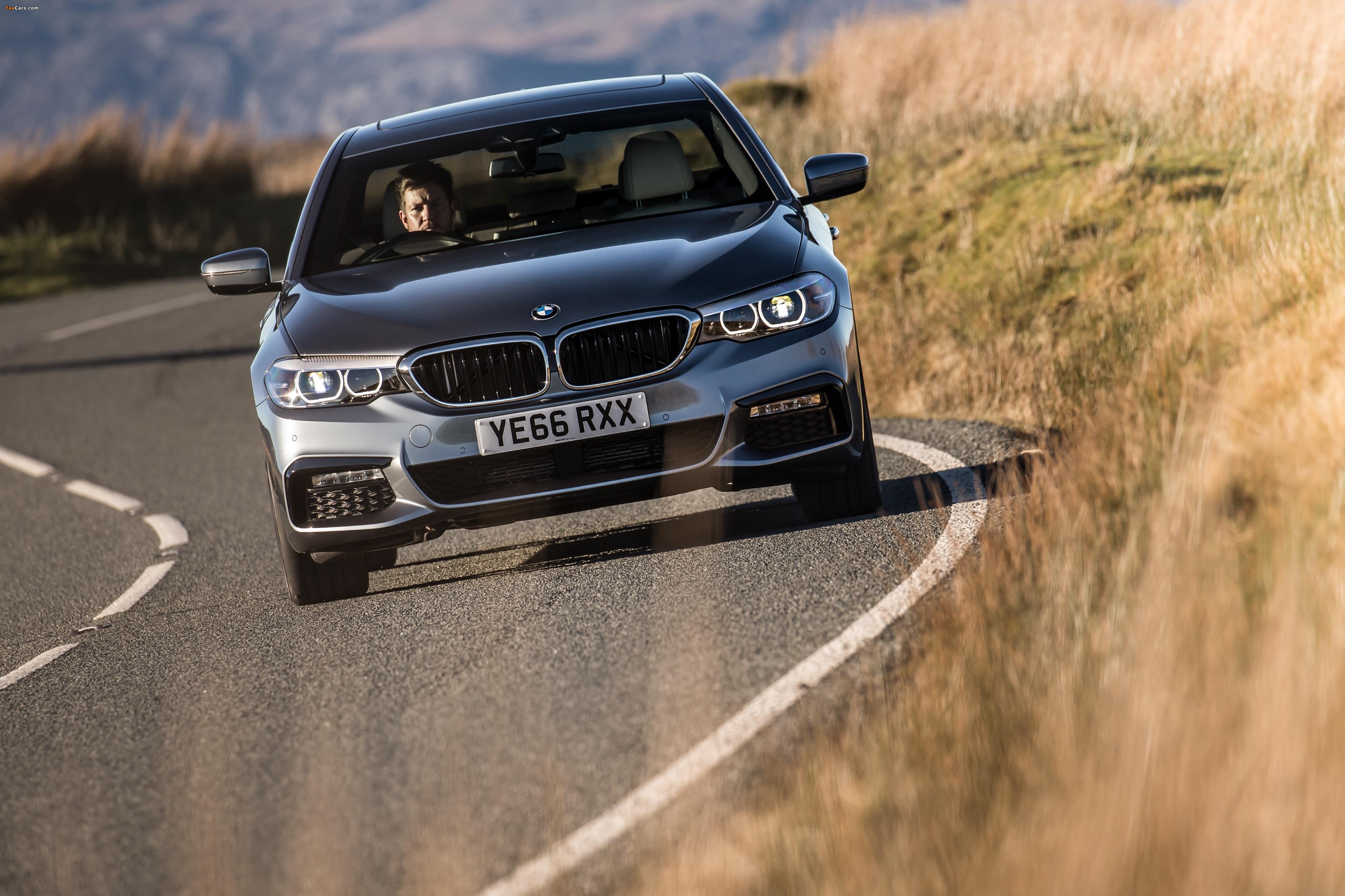 BMW 520d Sedan M Sport UK-spec (G30) 2017 wallpapers (4096 x 2730)