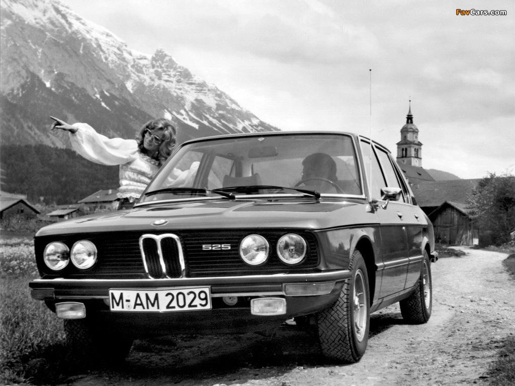 BMW 525 Sedan (E12) 1973–76 wallpapers (1024 x 768)