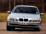 BMW 540i Sedan UK-spec (E39) 1996–2000 wallpapers