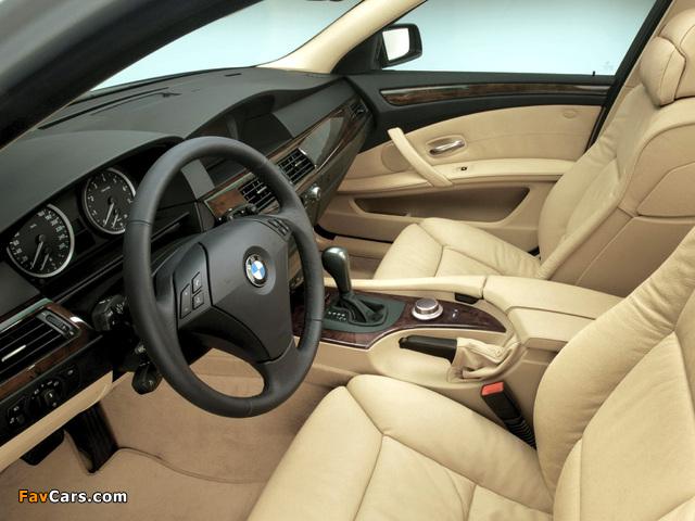 Images of BMW 545i Sedan (E60) 2003–05 (640 x 480)