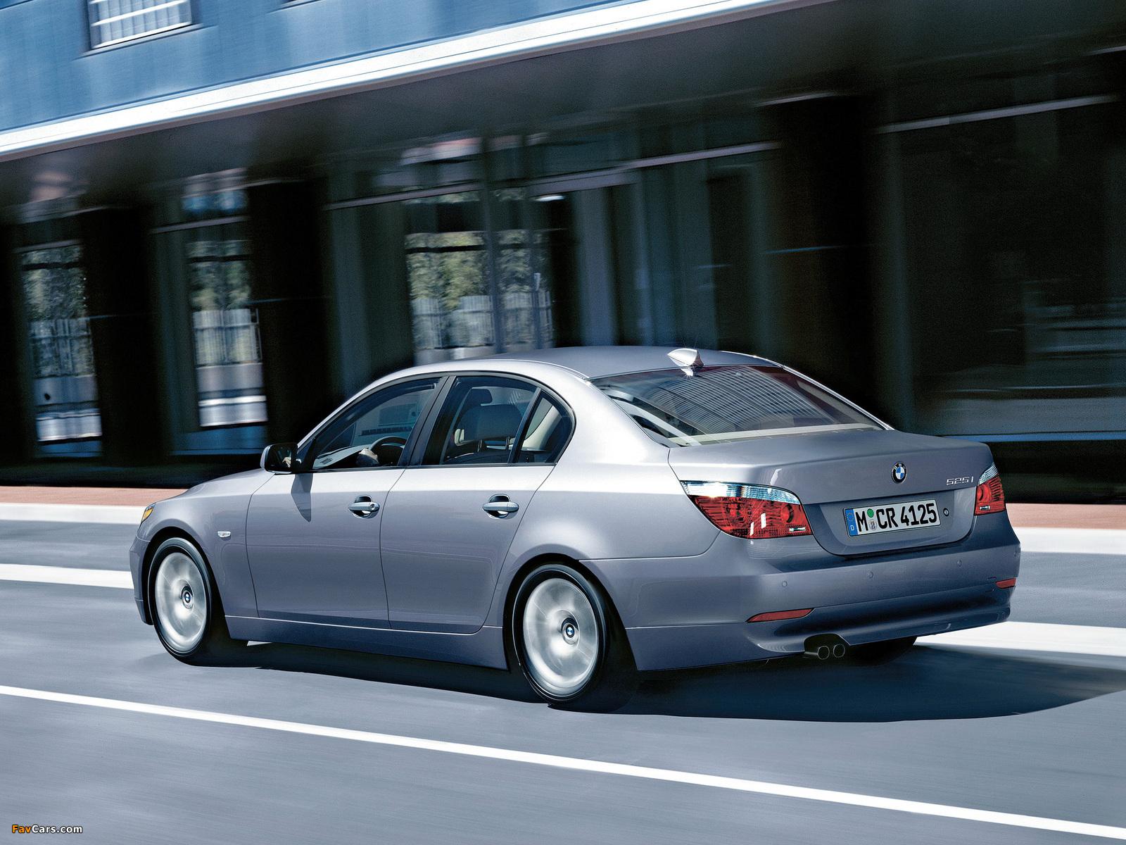 Images of BMW 525i Sedan (E60) 2003–07 (1600 x 1200)