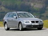 Images of BMW 525i Touring UK-spec (E61) 2004–07