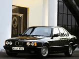 Photos of BMW 535i Sedan (E34) 1988–93