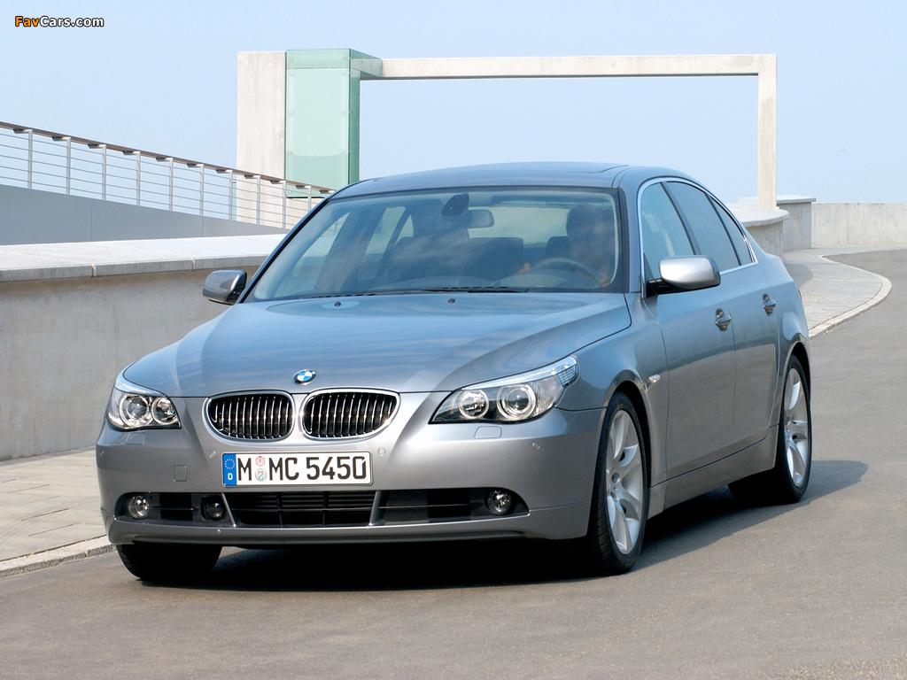 Photos of BMW 545i Sedan (E60) 2003–05 (1024 x 768)