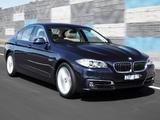 Photos of BMW 520i Sedan AU-spec (F10) 2013
