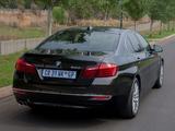 Photos of BMW 520i Sedan Luxury Line ZA-spec (F10) 2013