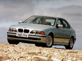 Photos of BMW 540i Sedan UK-spec (E39) 1996–2000