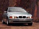 Pictures of BMW 540i Sedan UK-spec (E39) 1996–2000