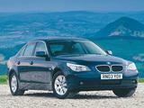 Pictures of BMW 520i Sedan UK-spec (E60) 2003–05